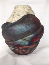 "Load image into Gallery viewer, Thrown and Altered Raku Vase--""Venus of Willendorf"""