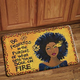 soul on fire floor mat