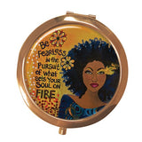 African American mirror compacts