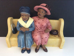 Church Pew - Older Daughter and Mother - figurine