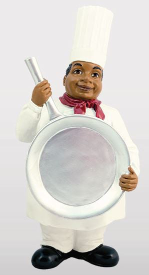 Chef with Pan - kitchen figurine