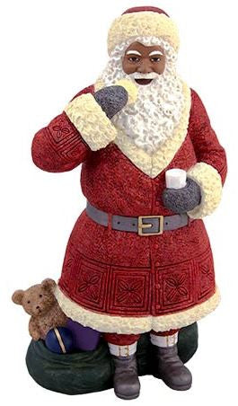 Santa with cookie - resin figurine