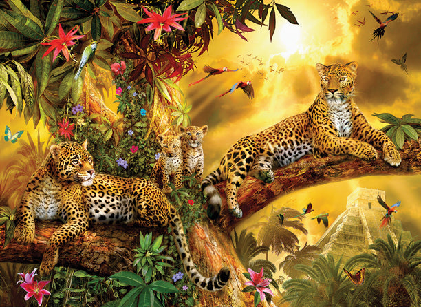 Jungle Jaguars 500 piece - jigsaw puzzle