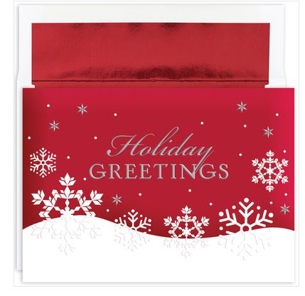 Traditional Christmas Cards - Holiday Flakes - MPS-896000