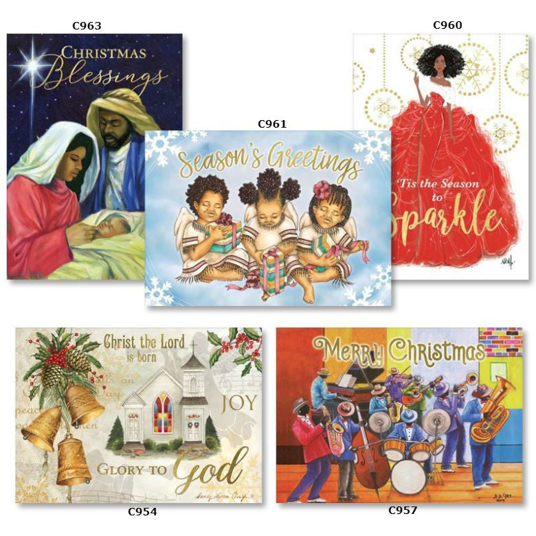 African American Christmas cards - assorted box - AAE-A303