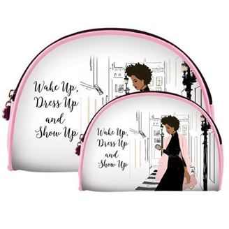 Wake Up Dress Up Show Up - cosmetic bags