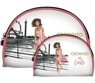 Crowned in Curls - cosmetic bags