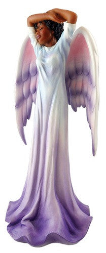 Angel in Purple and White - figurine