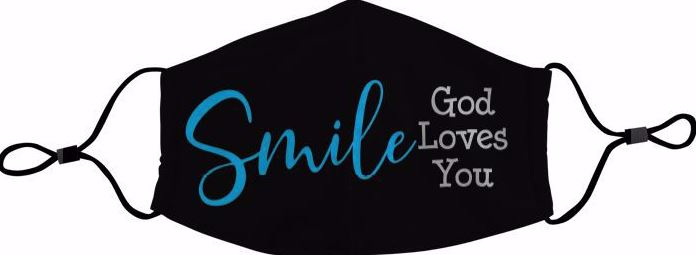 AAE Face Mask - Smile God Loves You