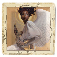 Heavenly Angel - glass plate