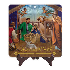 African American Nativity Scene - glass plate
