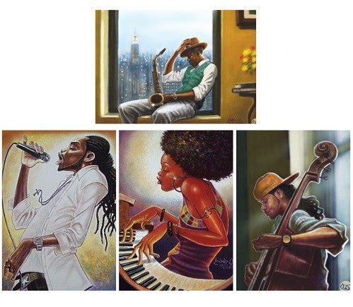 Urban Fusion Jazz - blank note cards - IT-14