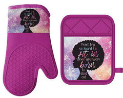 Born To Stand Out - oven mitt - pot holder