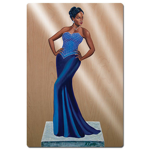 Diva in Blue - magnet