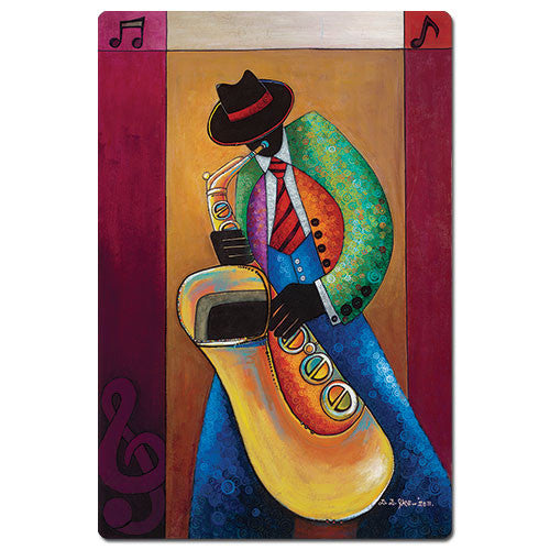 Jazz Sax Player - magnet