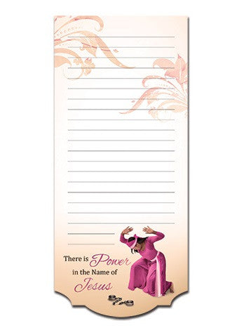 Magnetic Notepad - Power in the Name of Jesus