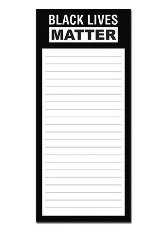 Magnetic notepad - Black Lives Matter