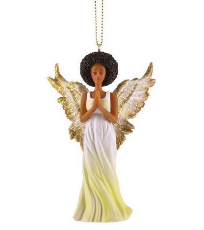 afro angel christmas ornament - Christmas Angel Figurines
