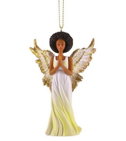 afro angel christmas ornament - African American Christmas Decorations