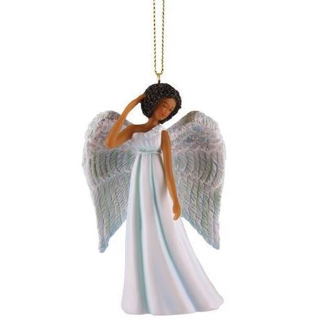 blue angel christmas ornament