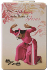 Power in the Name of Jesus - compact mirror