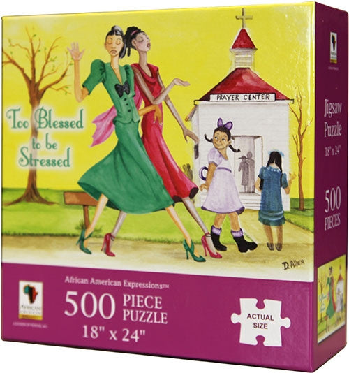 Too Blessed To Be Stressed - 500 piece jigsaw puzzle