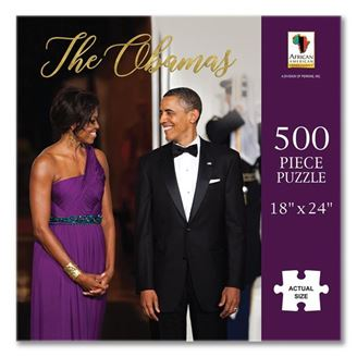The Obamas - 500 piece jigsaw puzzle - PUZ16