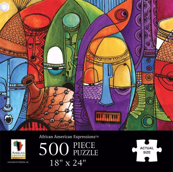 Jazz Masks - 500 piece jigsaw puzzle