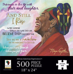 Maya Angelou Quotes - 500 piece jigsaw puzzle