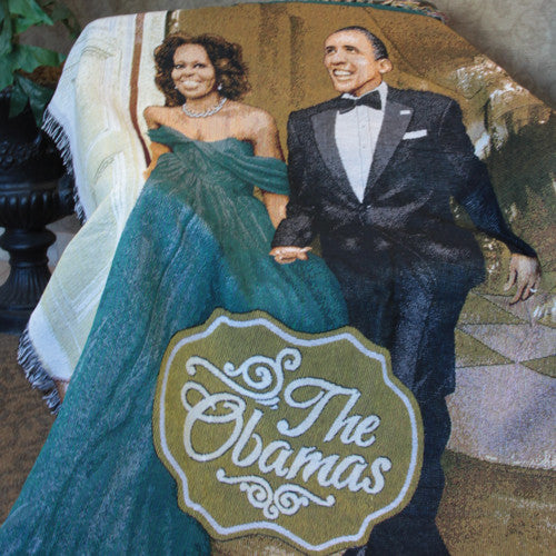 The Obamas - tapestry throw