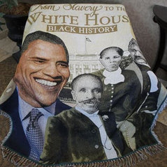 From Slavery To The Whitehouse - tapestry throw