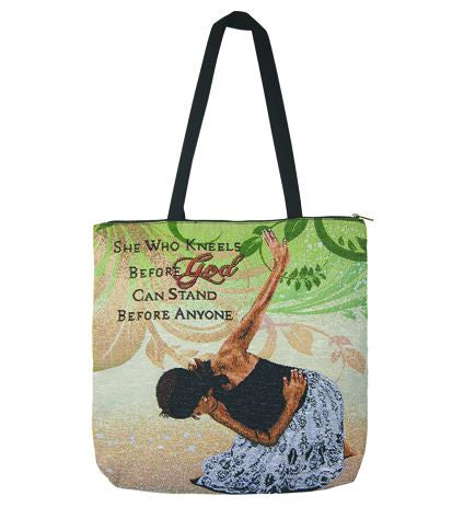 She Who Kneels - tote bag