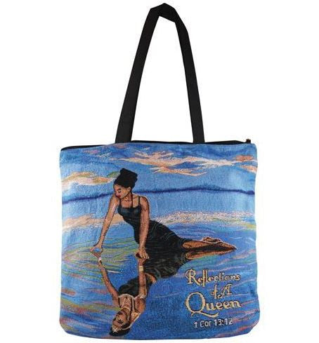 Reflections of a Queen - tote bag