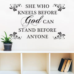 She Who Kneels - wall art decal