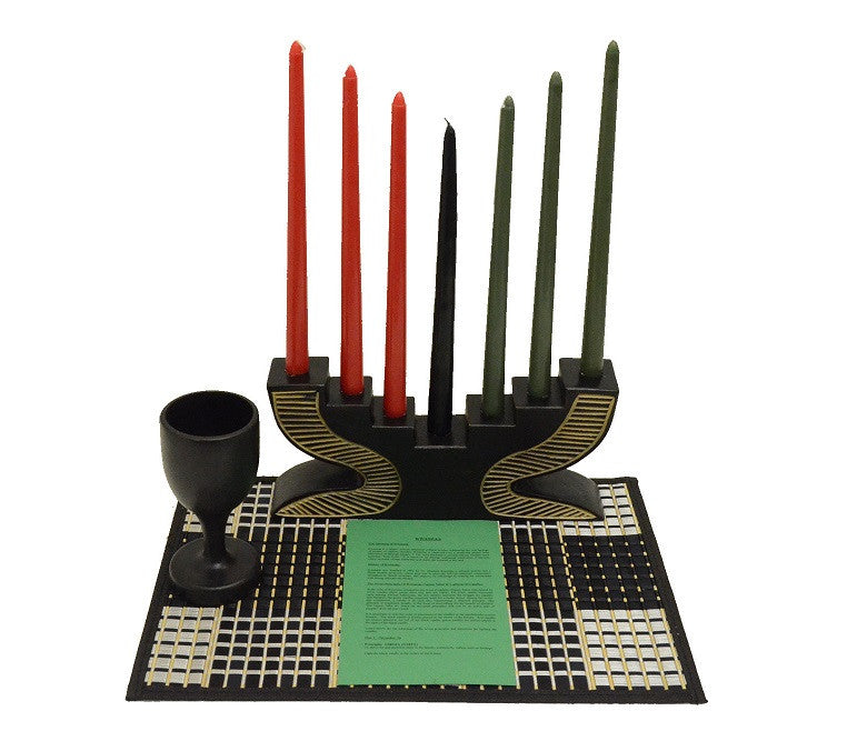 Kwanzaa Kinara set - Step - black