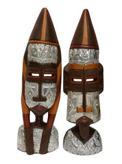 African Masks - Fulani Prince and Princess