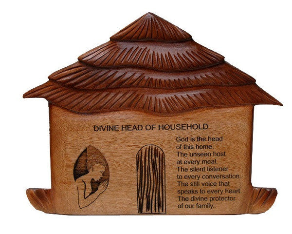 Plaque - Divine Household - wooden plaque
