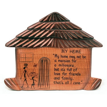 My Home - wooden plaque