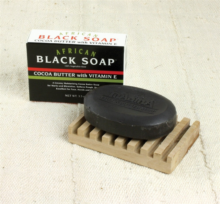 Black Soap - with cocoa butter