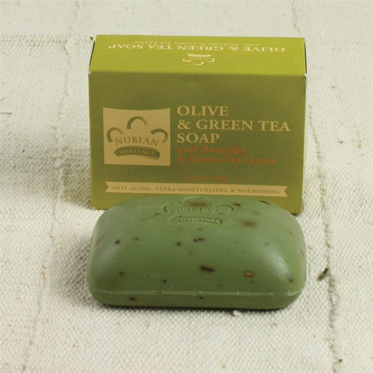 Olive Oil with avocado and green tea soap