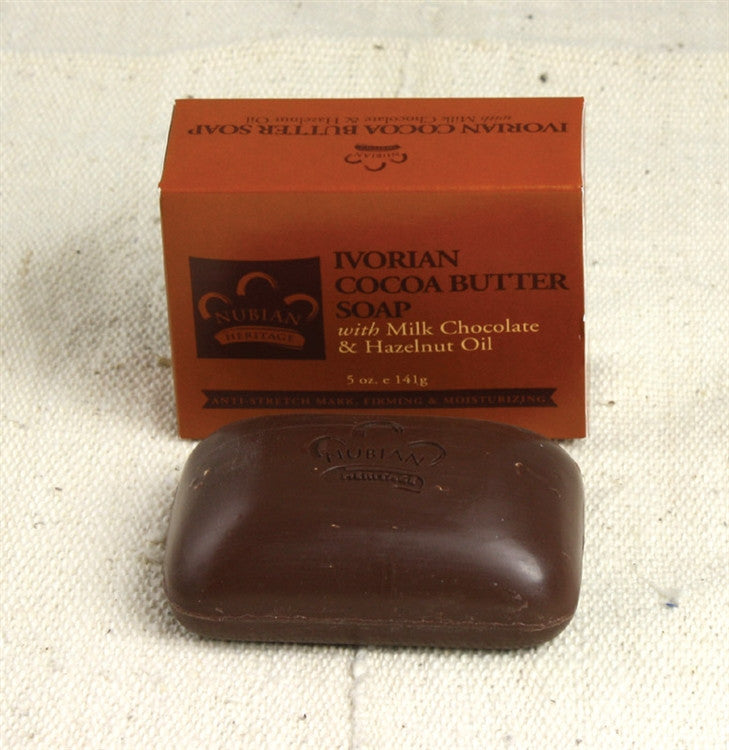 Cocoa Butter Soap - with chocolate and hazelnut