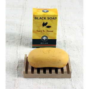 Black Soap - with honey and almond