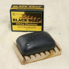Black Soap - white diamonds