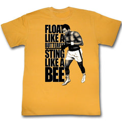 Muhammad Ali - butterfly bee gold - t-shirt