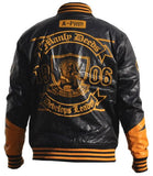 Alpha Phi Alpha jacket - faux leather