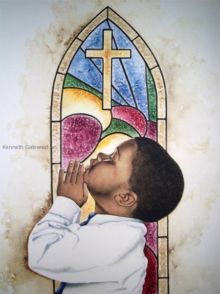 He Answers My Prayers - 18x24 - Limited Edition Giclee - Kenneth Gatewood