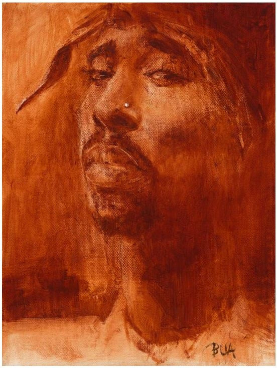 e6dd159bdb9 Tupac - 13x18 giclee on canvas - Justin Bua – It s A Black Thang.com