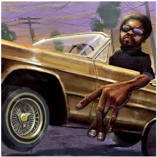 f084369a9c3 Westside - 20x20 giclee on canvas - Justin Bua – It s A Black Thang.com