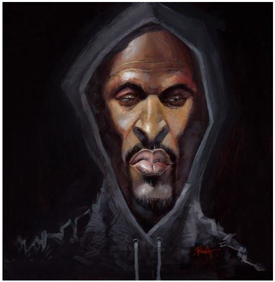 Rakim - 20x20 giclee on canvas - Justin Bua