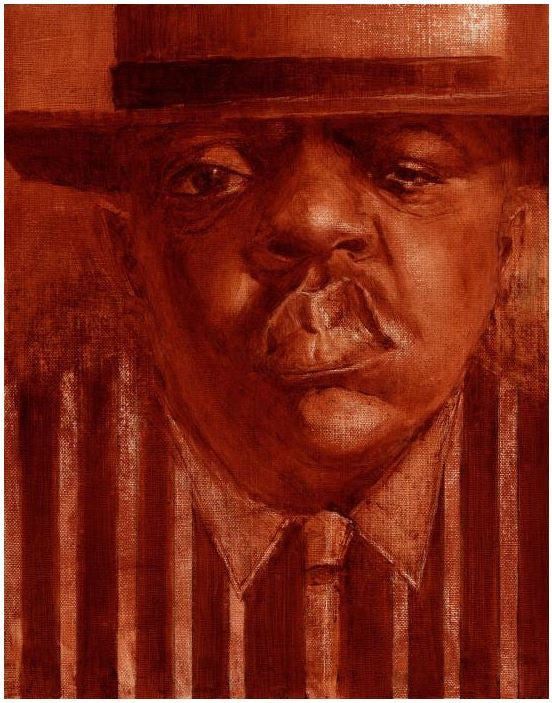 Biggie - 13x17 giclee on canvas - Justin Bua